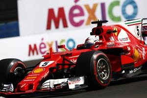 Ferrari s Sebastian Vettel set the fastest time in qualifying at Mexico  City with the ultrasoft tyre 3daf3f18627
